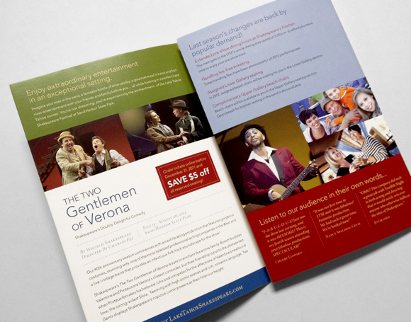 Lake Tahoe Shakespeare Festival Brochure